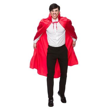 Deluxe Red Satin Cape Adult