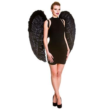 Giant Feather Wings - Black