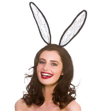 Bunny Headband - Black Lace