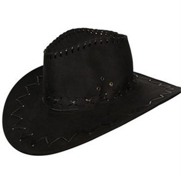 Black Suede Cowboy Hat