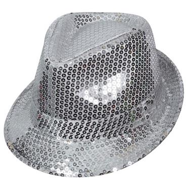 Silver Sequined Fedora