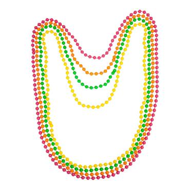 8O's Neon Beads (4 pack)