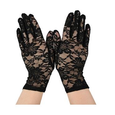 Ladies Lace Gloves - Black