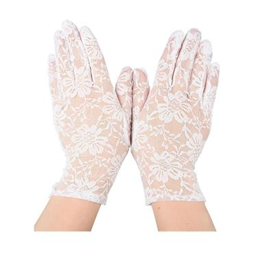 Ladies Lace Gloves - White