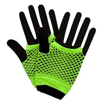 80's Net Gloves - Neon Green