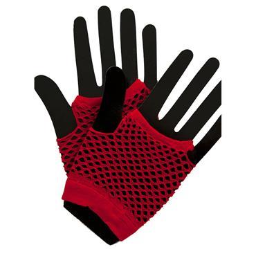 80's Net Gloves - Red