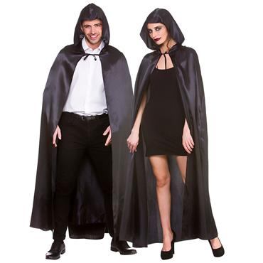 Deluxe Satin Cape - Black