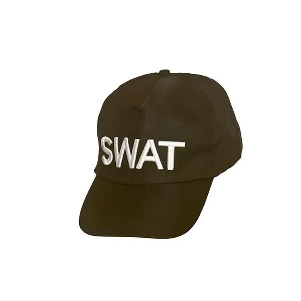 One Size Black Swat Headwear Hat Costume