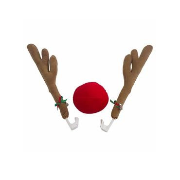 Christmas Car Reindeer Nose and Antlers