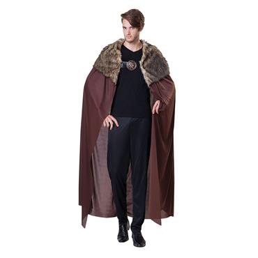 Mens Deluxe Cape with Plush Collar - Games of Thrones