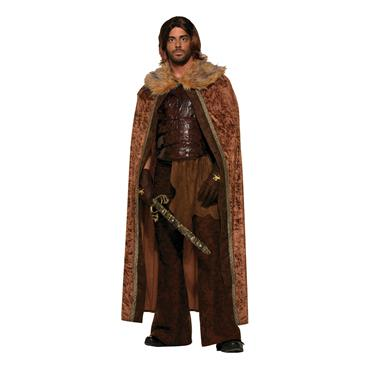 Brown Faux Fur Trimmed Cape - Game of Thrones