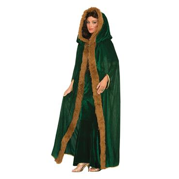 Green Faux Fur Trimmed Cape - Game of Thrones