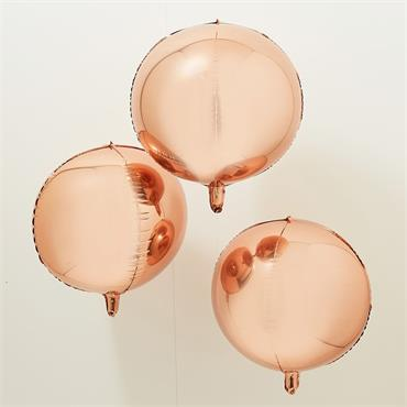 "Orb Balloons 22"" - Rose Gold"