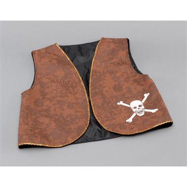 Pirate Waistcoat - Brown Distress