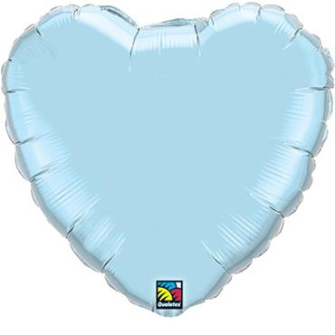 "Baby Blue Heart Foil Balloon 18"""