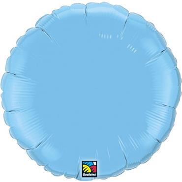 "Baby Blue Round Foil Balloon 18"""
