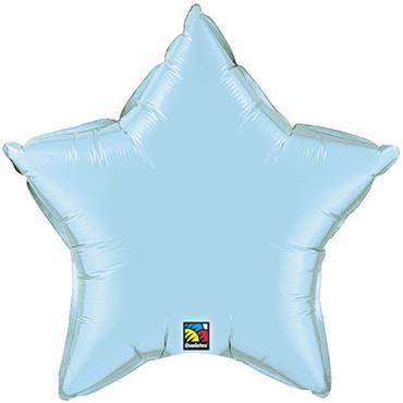 "Baby Blue Star Foil Balloon 19"""