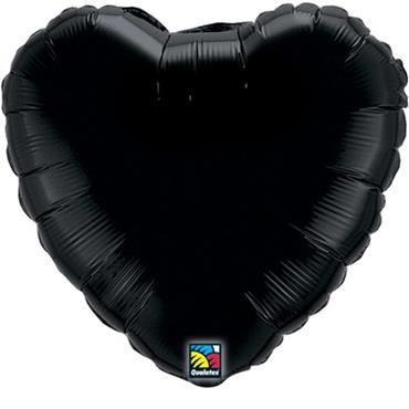 "Black Heart Foil Balloon 18"""