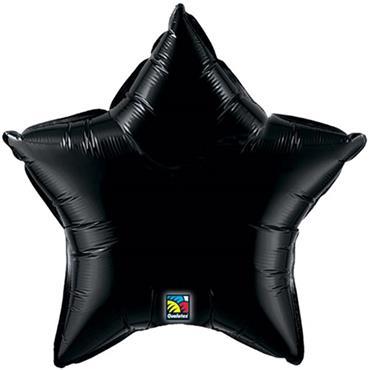 "Black Star Foil Balloon 19"""