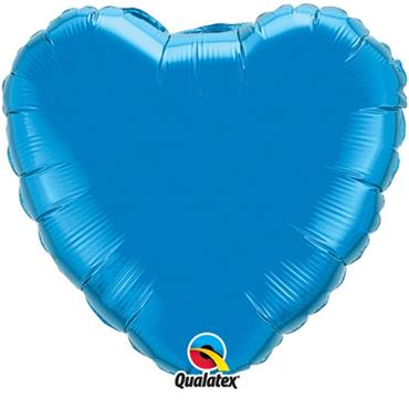 "Blue Heart Foil Balloon 18"""