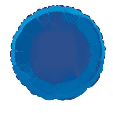 "Blue Round Foil Balloon 18"""