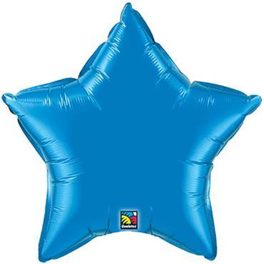 """Blue Star Foil Balloon 19"""""""