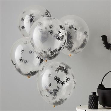Halloween Spider Confetti Balloons
