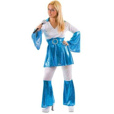 Mama Mia Costume - Blue & White