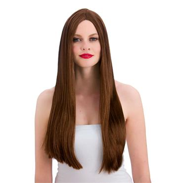 Classic Long Brown Wig