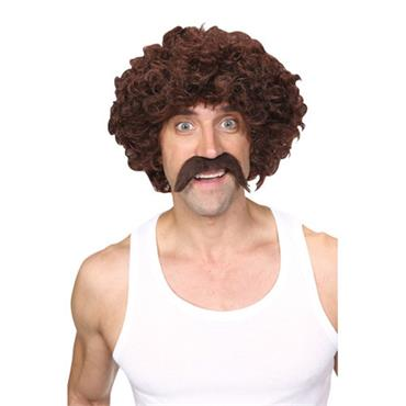 Funny Athlete Set Wig - Brown