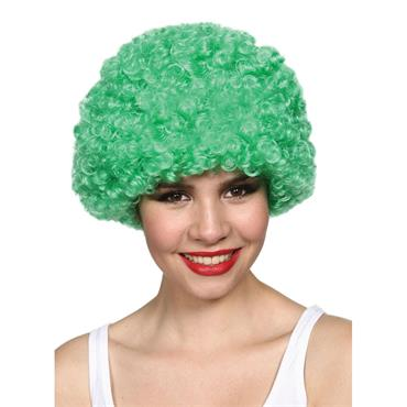 Funky Afro - Green Wig