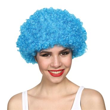Funky Afro - Blue Wig