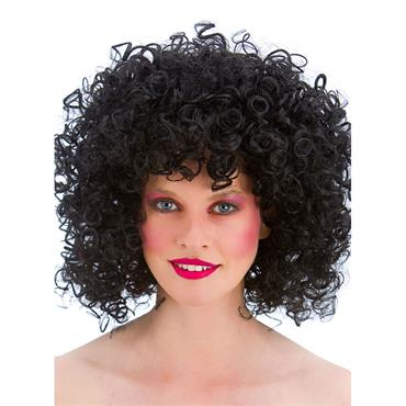 80s Disco Perm- Black