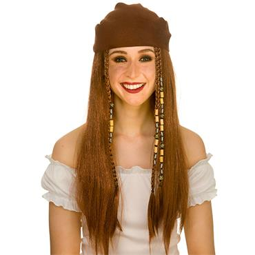 Deluxe Pirate Wig & Bandana