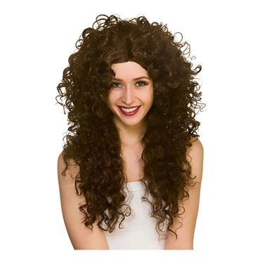 Long Curly Wig - Brown