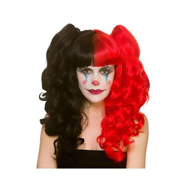 Harlequin Wig -  Red & Black Bunches