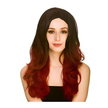 L.A Glamour Ombre Wig - Black/Red