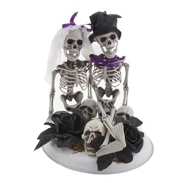 Skeleton Bride & Groom Centrepiece - 30cm x 23cm