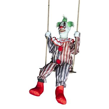 Scary Clown on Swing with Light, Sound & Movement - 200cm
