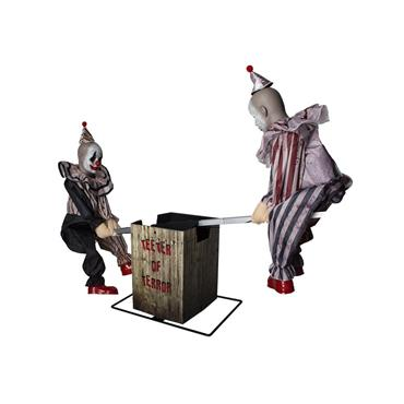 2 Clowns on Seesaw (Light, Sound & Movement) 95cm