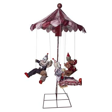 3 Clowns on Merry-Go-Round (Light, Sound & Movement) 220cm