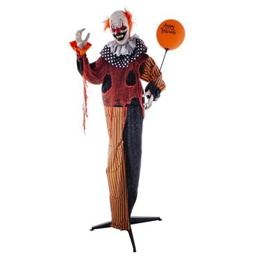 Standing Animated Clown with Light, Sound & Movement - 170cm