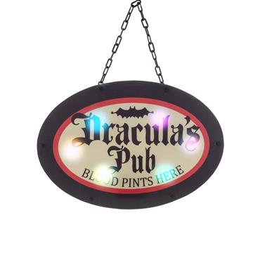 Dracula's Pub Warning Sign - 47.5cm