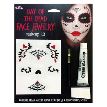 Day of the Dead Face Jewellery Makeup Kit