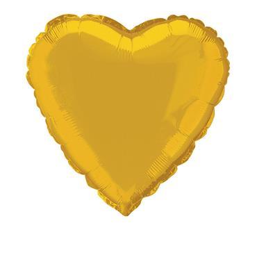 """Gold Heart Foil Balloon 18"""""""
