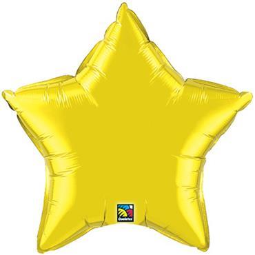 "Gold Star Foil Balloon 19"""