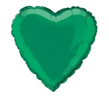 """Green Heart Foil Balloon 18"""""""