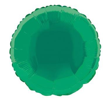 "Green Round Foil Balloon 18"""