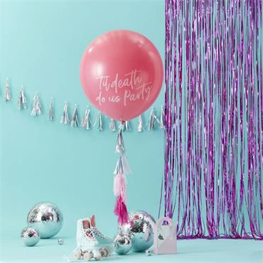 "Large 36"" Pink Til Death Do Us Party Balloon Kit"