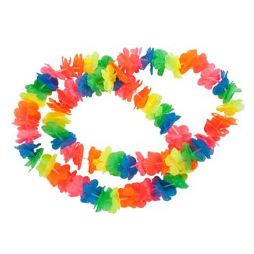 Small Petal Lei / 2pc / Neon Multicolor